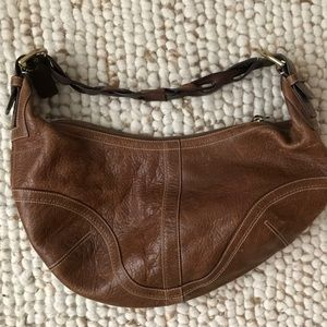 Coach leather Soho hobo braided strap